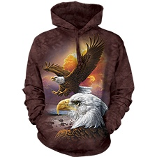 Eagle and Clouds Hooded Pullover