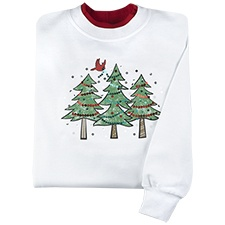 Sequined Trees Pullover
