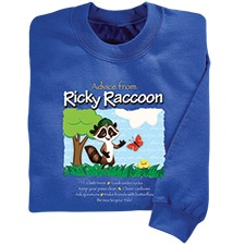 Advice from Ricky Raccoon Youth Sweatshirt