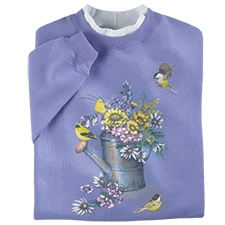 Goldfinch Floral Pullover
