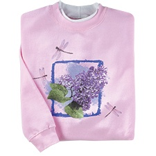 Lilac Dragonflies Pullover