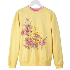 Bees and Blossoms Pullover
