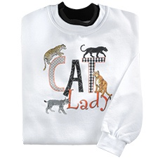 Wild Cat Lady Pullover