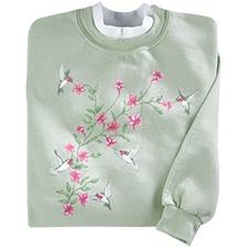Hummingbird Blossoms Pullover