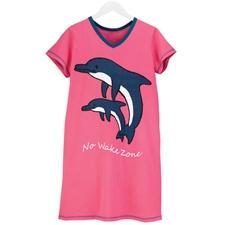 No Wake Zone Dolphin Nightshirt