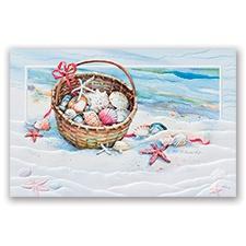 Basket of Shells Card