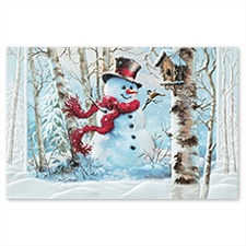 Birchwood Snowman Card