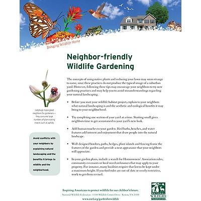 Neighbor-Friendly Wildlife Gardening Tip Sheet