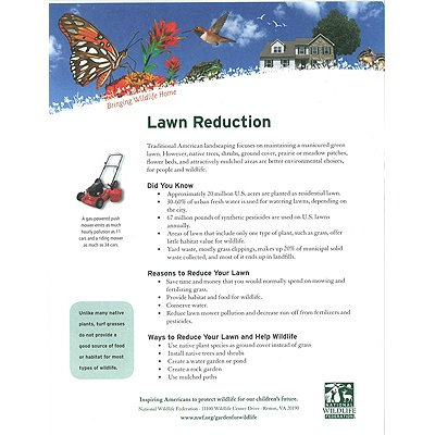 Lawn Reduction Tip Sheet