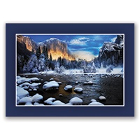 Winter Sunset at El Capitan Card