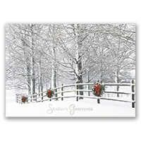 Holiday Fence Card