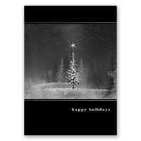 Starry Treeline Card