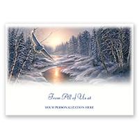 Solstice Snowy Owl Card