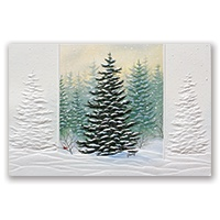 Frosted Evergreens Card