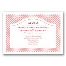 Beautiful Basket Weave - Guava - Invitation