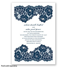 Ellendale Lace - Peacock - Invitation