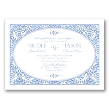 Joyful Damask - Bluebird - Invitation