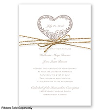 Nature's Heart - Biscotti - Invitation