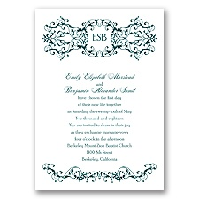 Ornate Date - Gem - Invitation