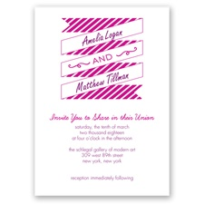 Stripes & Banners - Sangria - Invitation