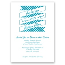Stripes & Banners - Malibu - Invitation