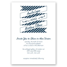 Stripes & Banners - Peacock - Invitation