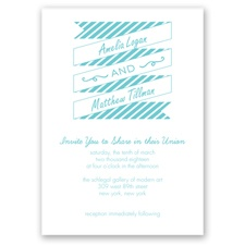 Stripes & Banners - Pool - Invitation