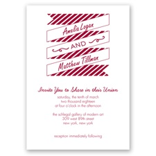 Stripes & Banners - Apple - Invitation