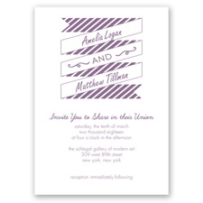 Stripes & Banners - Wisteria - Invitation