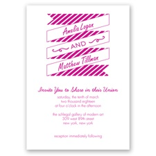 Stripes & Banners - Begonia - Invitation