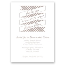 Stripes & Banners - Biscotti - Invitation