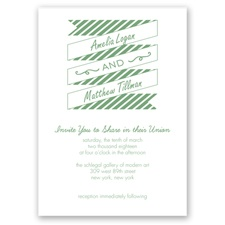 Stripes & Banners - Clover - Invitation
