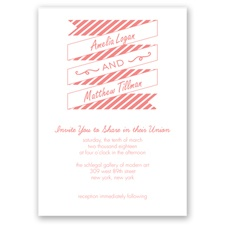 Stripes & Banners - Coral Reef - Invitation