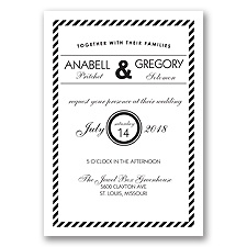 Typography Stripe - Black - Invitation