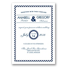 Typography Stripe - Marine - Invitation