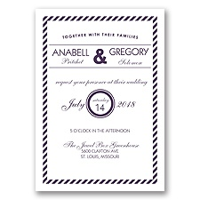 Typography Stripe - Plum - Invitation