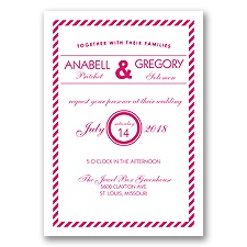 Typography Stripe - Watermelon - Invitation