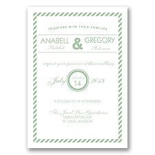 Typography Stripe - Meadow - Invitation