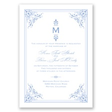 Vintage Fanfare - Bluebird - Invitation