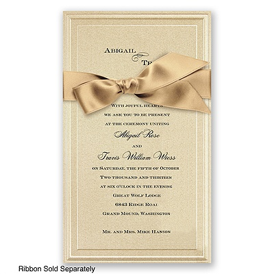 Gold Shimmer Border - Invitation