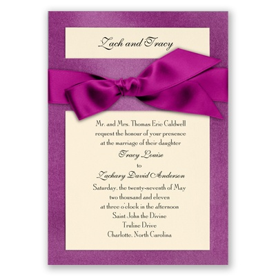 Treasured Gems - Violet & Ecru Invitation
