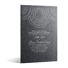 Shining Pearls in Foil Print - Onyx Shimmer - Invitation