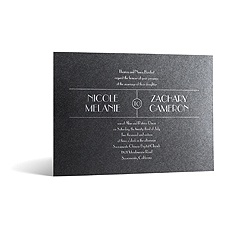 Wedding Radiance in Foil Print - Onyx Shimmer - Invitation