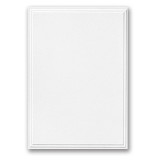 Triple Panel White Invite