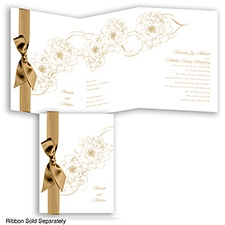 Dreamy Roses - Golden - Invitation