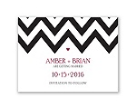 Chevron Sweethearts - Save the Date Card