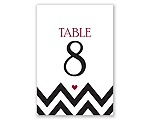 Chevron Sweethearts - Table Number