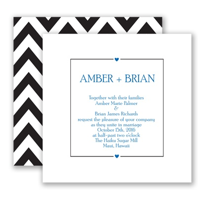 Chevron Sweethearts - Horizon - Invitation
