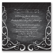 Fanciful Chalkboard - Black - Invitation