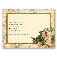 Rosie Romance - Champagne - Save the Date Card